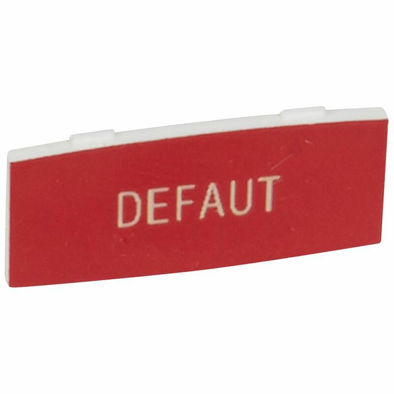 Insert Osmoz avec texte à enclipser sur un cadre - alu - petit modèle avec marquage DEFAUT sur fond rouge