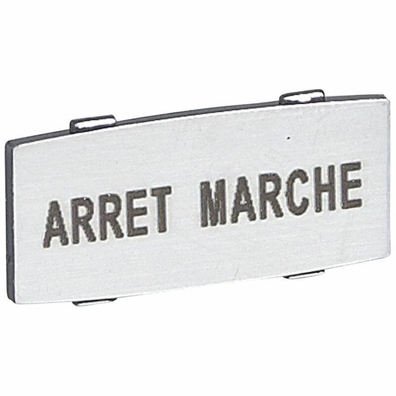 Insert Osmoz avec texte à enclipser sur un cadre - alu - petit modèle avec marquage ARRET-MARCHE