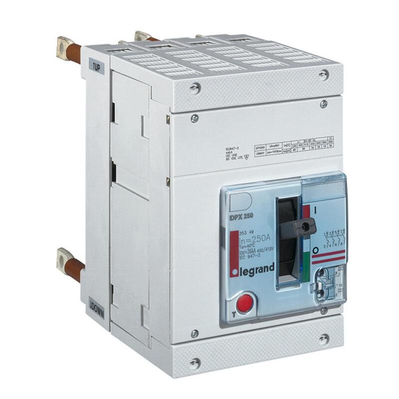 Disjoncteur magnétothermique DPX250 pouvoir de coupure 36kA 400V~ - 4P - 250A