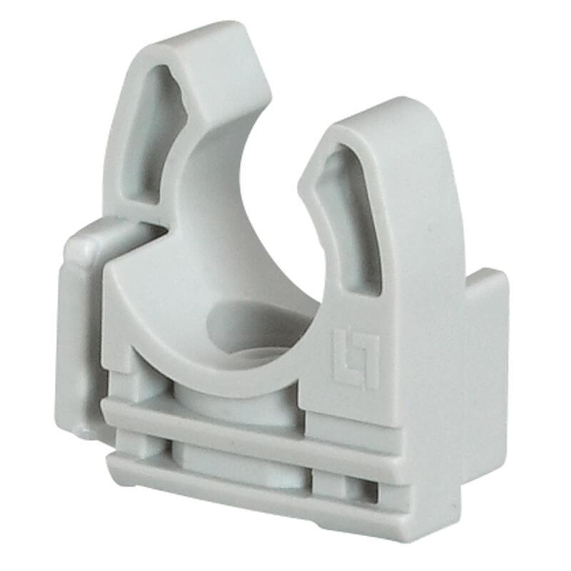Lyre grise pour tube IRL Ø32mm avec fixation des tubes par simple clipsage