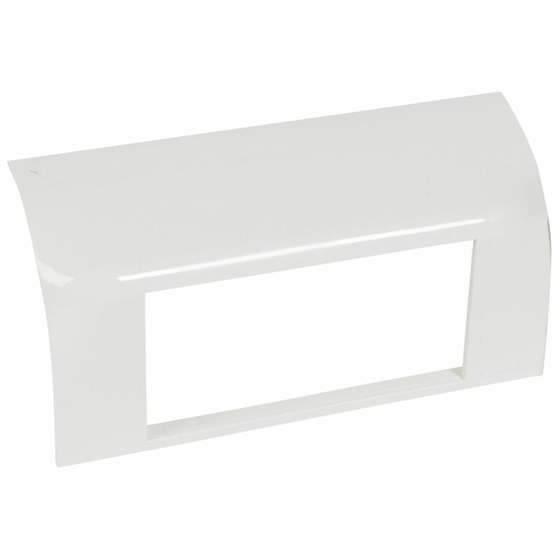 Support Mosaic 4 modules pour pose sur plinthe DLP 140x35mm - blanc