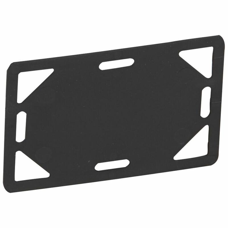 Plaque signalétique noire protégée ultraviolets pour colliers largeur supérieure ou égale à 7,6mm