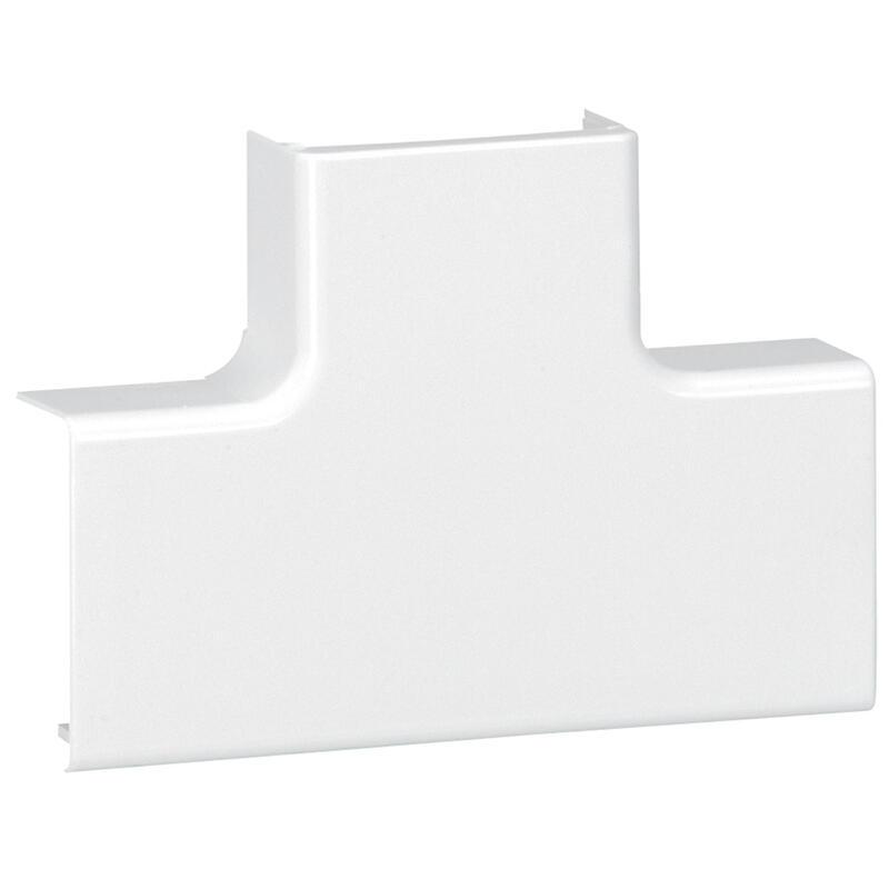 Dérivation en T à plat pour moulure DLPlus 32x16mm - blanc
