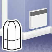 Angle extérieur variable pour plinthe DLP 140x35mm - blanc
