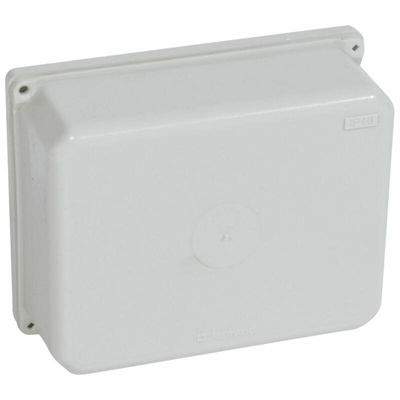 Coffret matière moulée IP40 IK04 dimensions 118x92x45mm pour bornes 6mm² , 10mm² , 16mm² , 25mm² et 35mm²