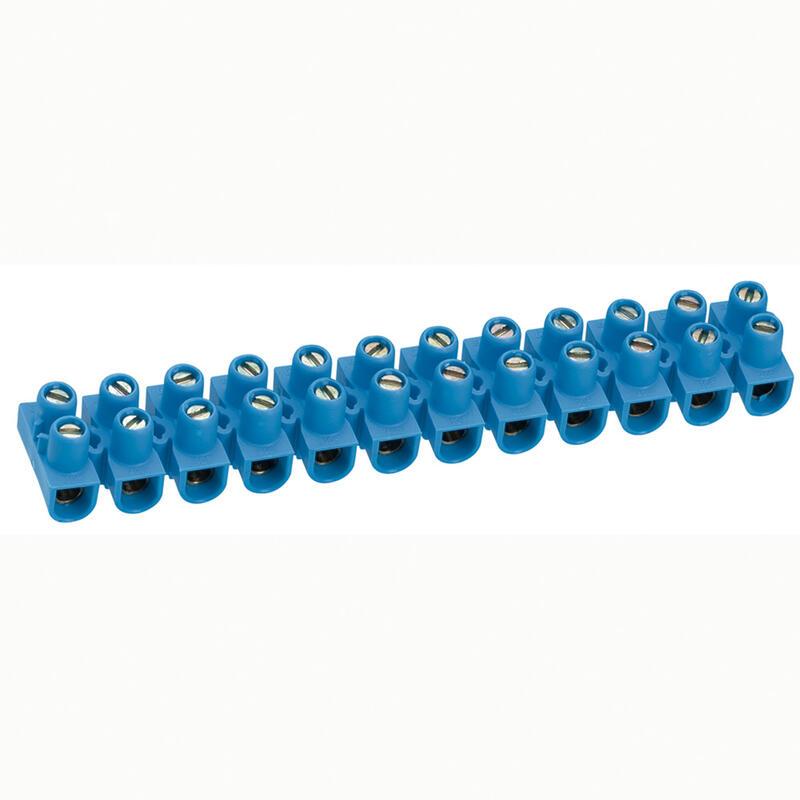 Barrette de connexion Nylbloc avec capacité assignée 6mm² - bleu
