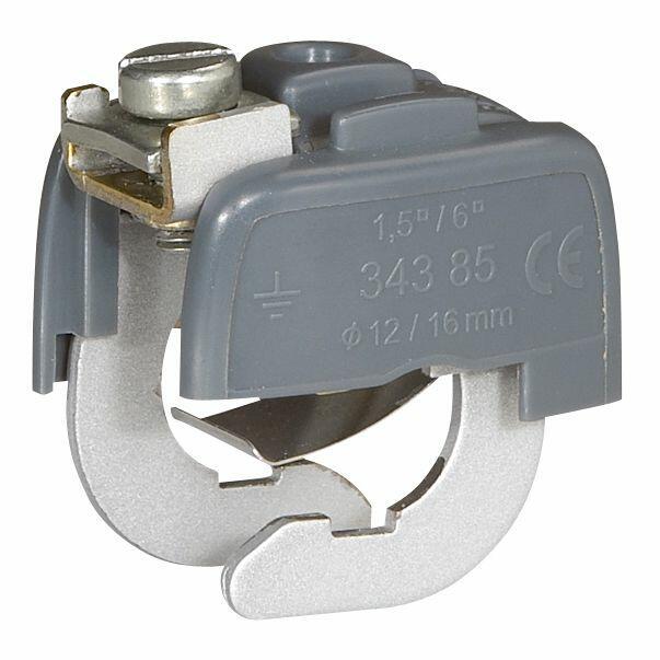 Connecteur de liaison équipotentielle pour canalisation Ø18mm mini et Ø22mm maxi