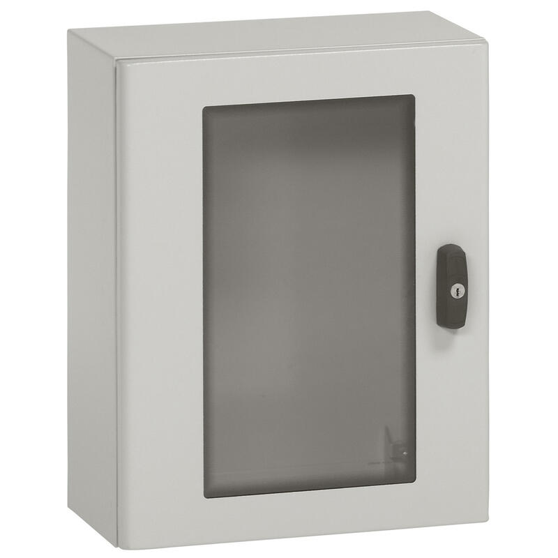 Coffret métal avec porte vitrée Atlantic métal IP66 IK10 - 700x500x250mm - RAL7035