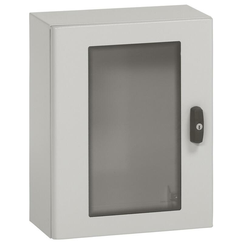 Coffret métal avec porte vitrée Atlantic métal IP66 IK10 - 1000x800x300mm - RAL7035
