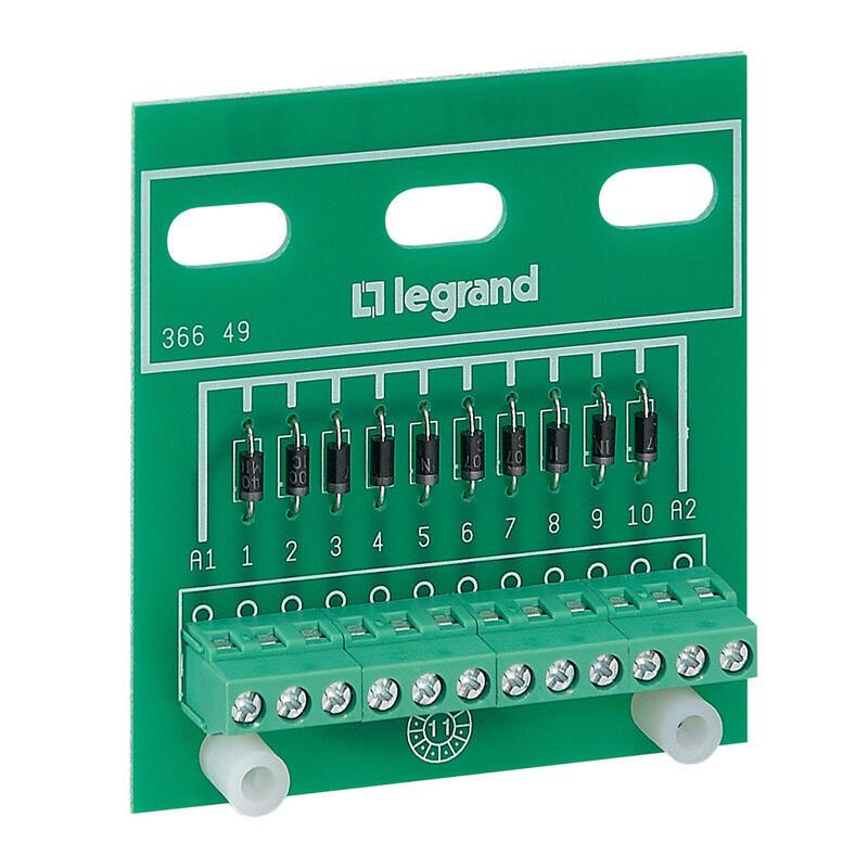 Module de 10 diodes anode commune pour Osmoz - fixation sur porte ou plaque