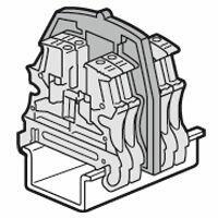 Cloison de séparation pour blocs de jonction à vis Viking3 avec 2 entrées 2 sorties et sectionnable pas de 6mm