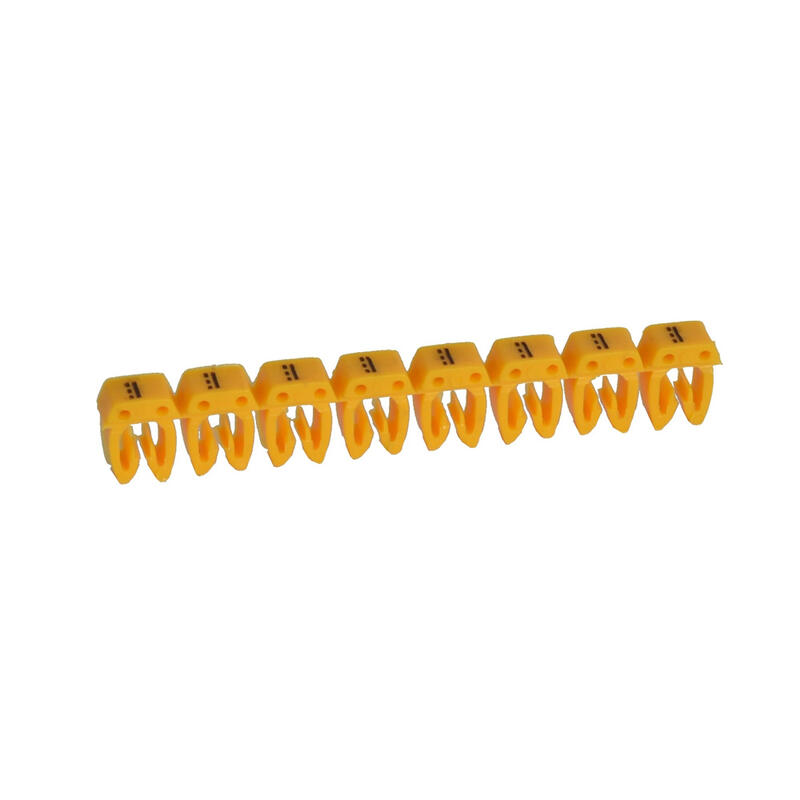 Repère CAB 3 pour filerie 0,15mm² à 0,5mm² et blocs de jonction avec signe conventionnel courant continu