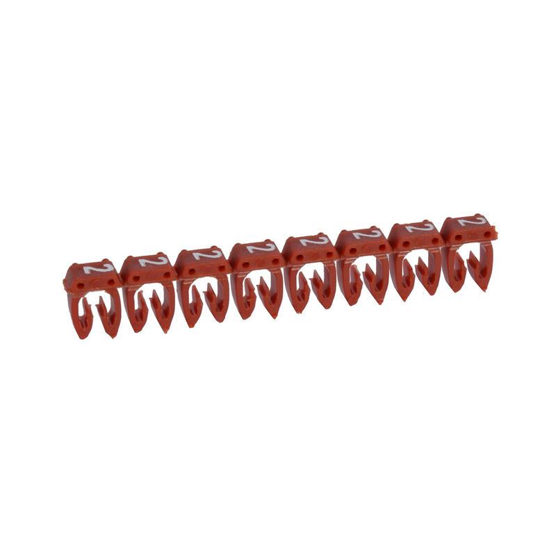 Repère CAB 3 pour filerie 4mm² à 6mm² avec chiffre 2 rouge
