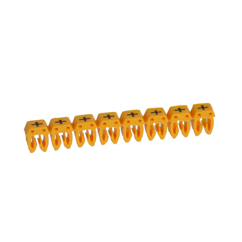 Repère CAB 3 pour filerie 0,5mm² à 1,5mm² et blocs de jonction avec signe conventionnel plus