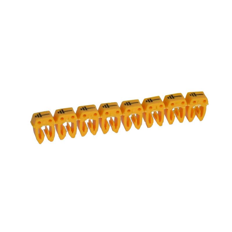 Repère CAB 3 pour filerie 0,5mm² à 1,5mm² et blocs de jonction avec signe conventionnel terre