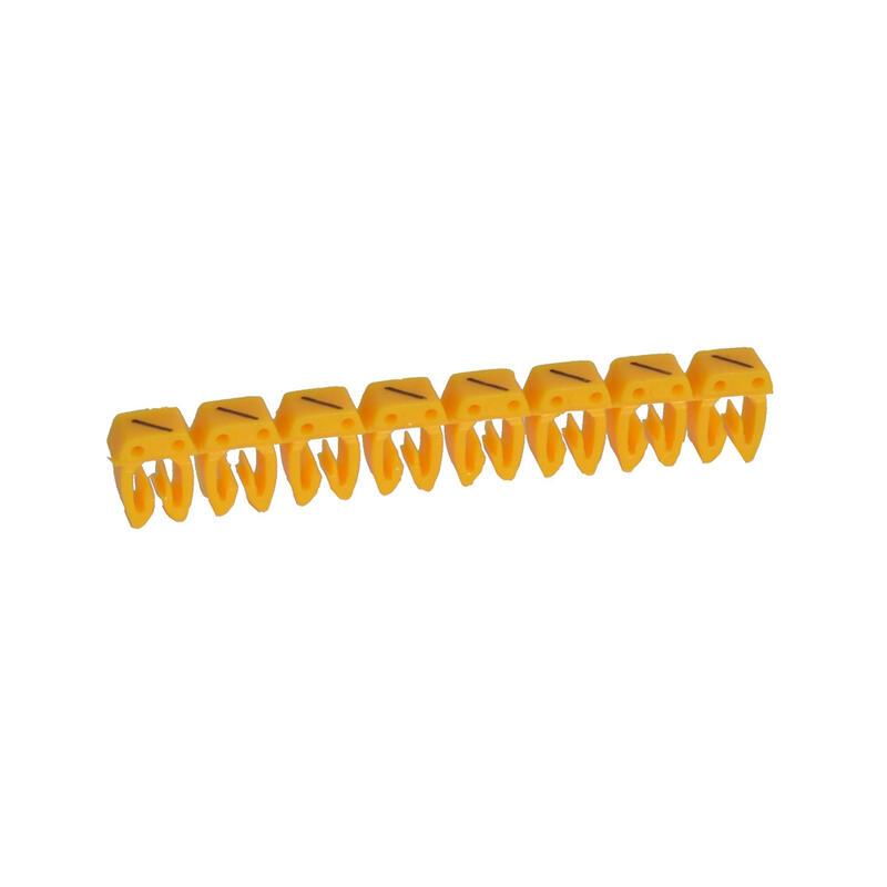 Repère CAB 3 pour filerie 1,5mm² à 2,5mm² avec signe conventionnel barre de fraction