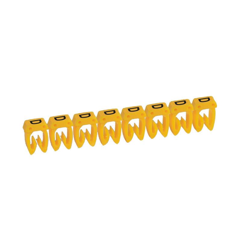 Repère CAB 3 pour filerie 0,5mm² à 1,5mm² et blocs de jonction avec lettre majuscule D