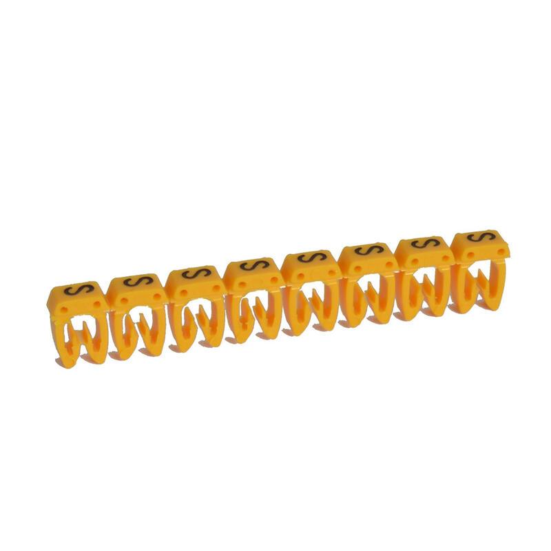 Repère CAB 3 pour filerie 1,5mm² à 2,5mm² avec lettre majuscule S