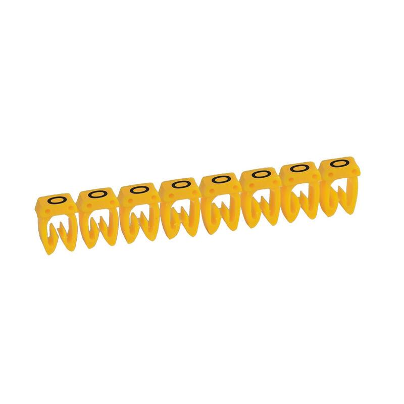 Repère CAB 3 pour filerie 4mm² à 6mm² avec lettre majuscule O