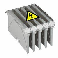 Capot de protection pour bloc de jonction de puissance nu Viking3 pour 3 blocs pas 46mm ou 4 blocs pas 34mm