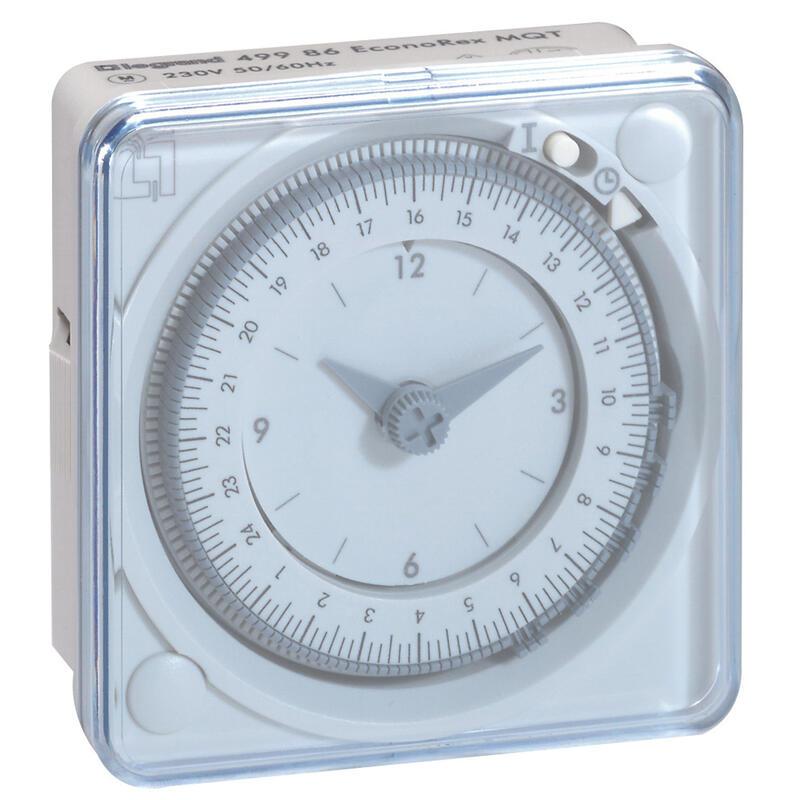 Inter horaire programmable analogique 72x72mm à programme journalier - connexion par languette