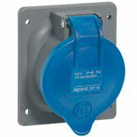Prise à entraxes unifiés fixe Hypra IP44 32A - 200V~ à 250V~ - 3P+T - plastique