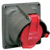 Prisinter fixe Hypra IP44/55 16A - 380V~ à 415V~ - 3P+T - plastique