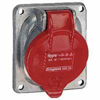 Prise fixe Hypra IP44 16A - 380V~ à 415V~ - 3P+N+T - métal