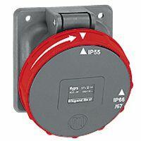 Prise fixe Hypra IP66/67-55 125A - 380V~ à 415V~ - 3P+T