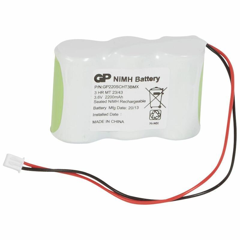 Batterie Ni-Mh - 2x3,6V 2,2Ah pour BAES d'ambiance à LEDs IP43 et IP67 ECO2