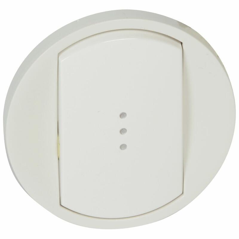 Enjoliveur large Céliane pour toutes commandes d'éclairage standard - Blanc