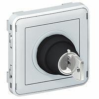 Interrupteur à clé Ronis n°455 3 positions Plexo composable IP55 3A 250V - gris
