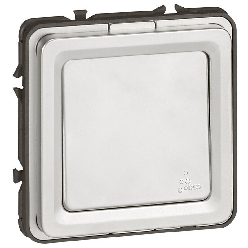 Poussoir inverseur NO-NF 6A 230V~ Soliroc IK10 IP55