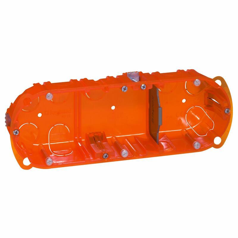 Boîte à encastrer Batibox multimatériaux - 3 postes profondeur 40mm