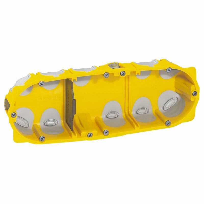 Boîte à encastrer Ecobatibox profondeur 40mm pour plaque de plâtre - 3 postes