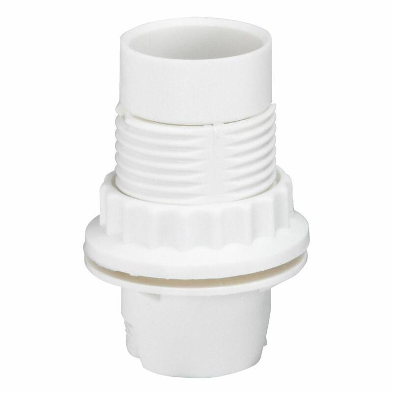 Douille pour ampoule E14 - polyamide blanc