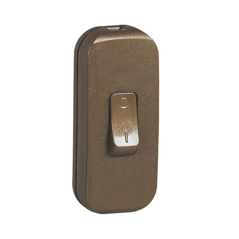 Interrupteur à bascule pour lampe - bipolaire - vieil or