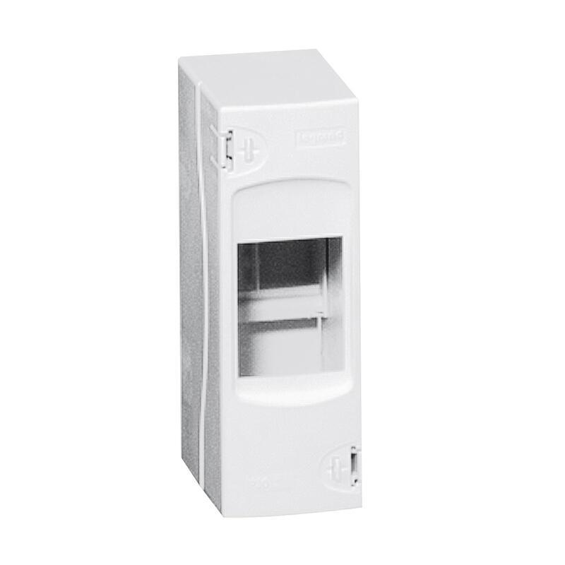 Coffret cache-borne à équiper - 2 modules - 140x50x72mm