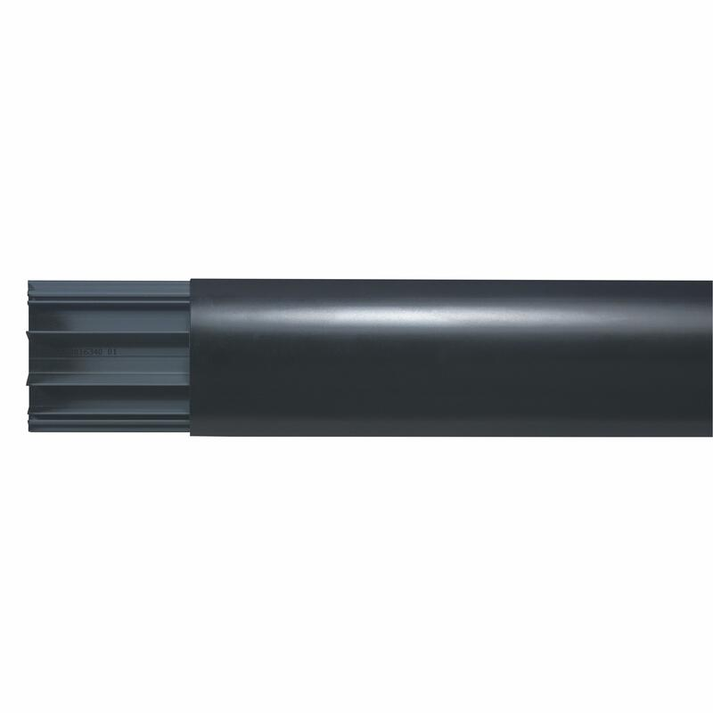 Cache câbles multimédia - kit pour écran plat - noir