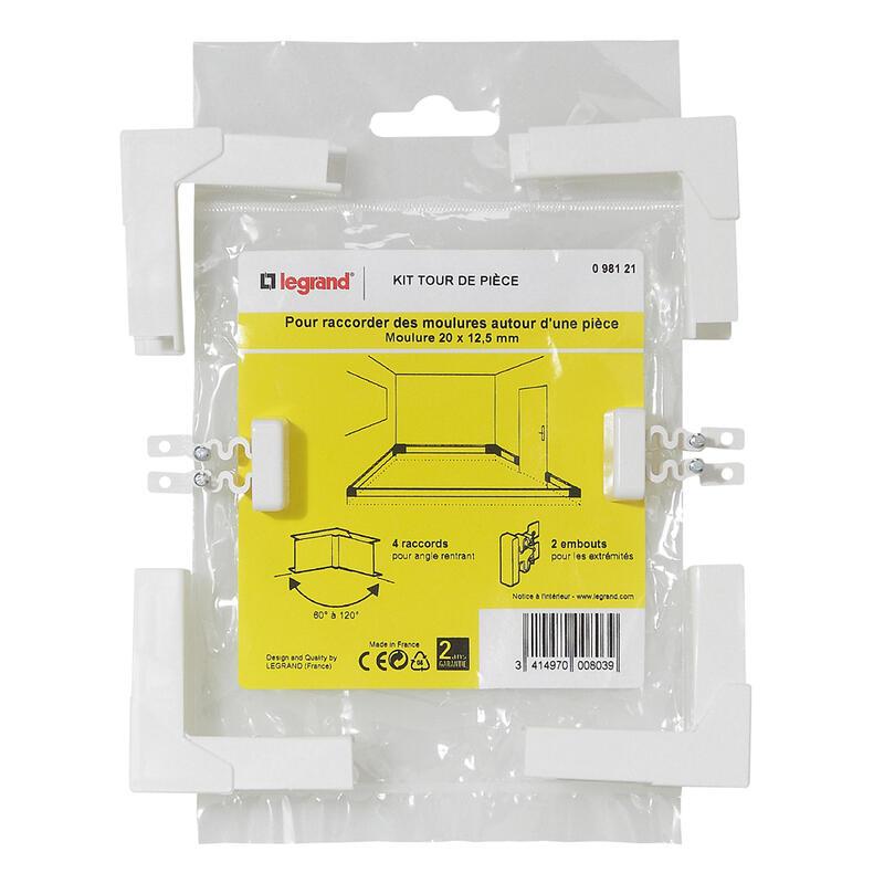 Kit tour de pièce - pour moulure 20x12,5mm
