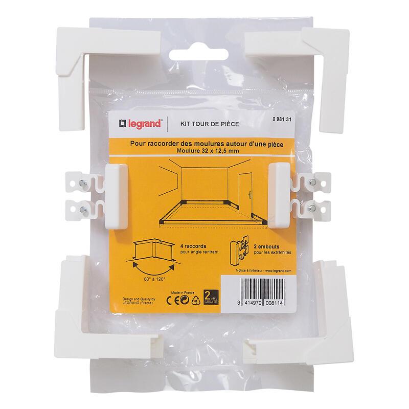Kit tour de pièce - pour moulure 32x12,5mm