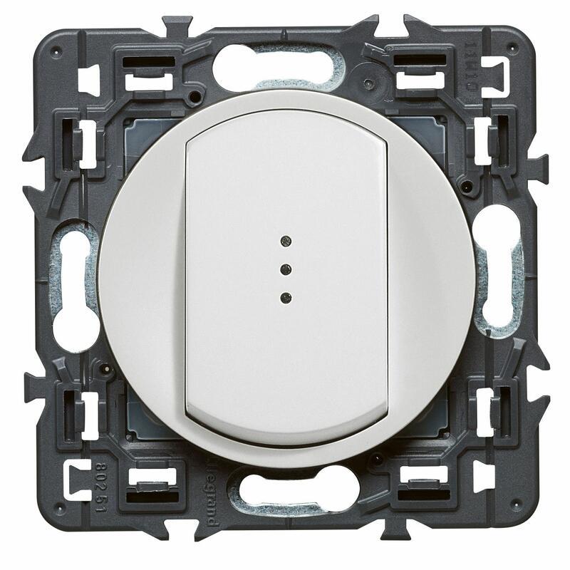 Interrupteur ou va-et-vient témoin (voyant fourni) Céliane Soft - 10A - Blanc