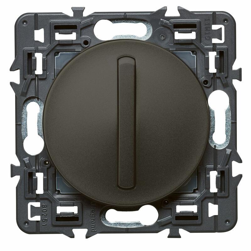 Interrupteur ou va-et-vient doigt étroit Céliane Soft - 10A - Graphite