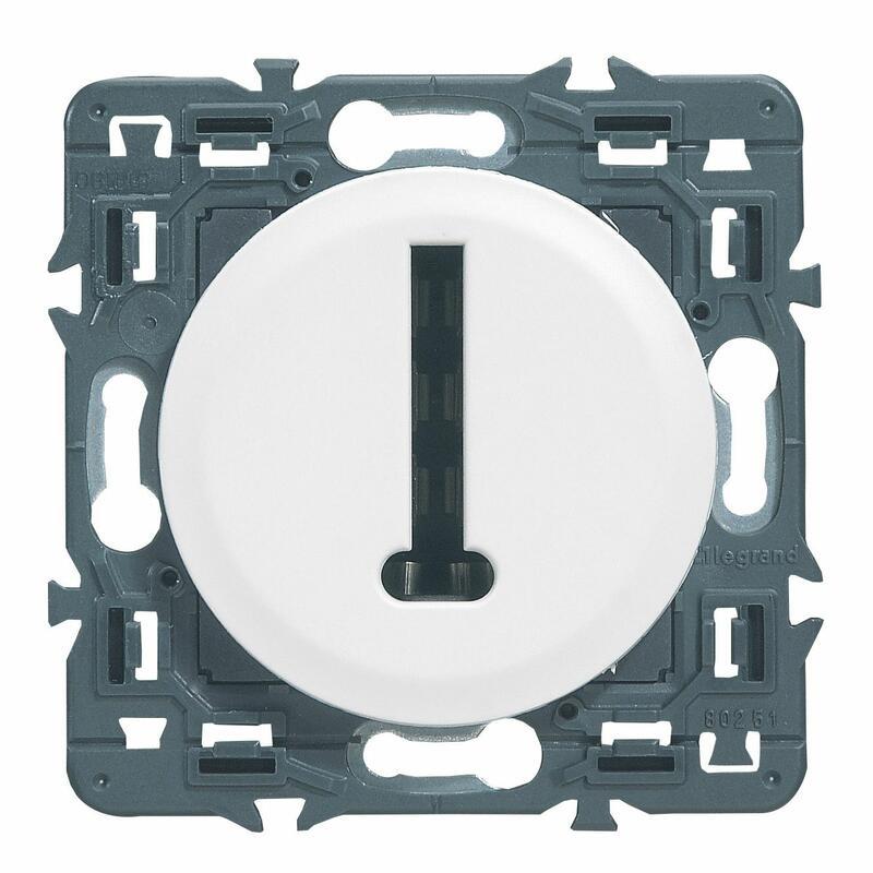 Prise téléphone Céliane - 8 contacts en T - Blanc