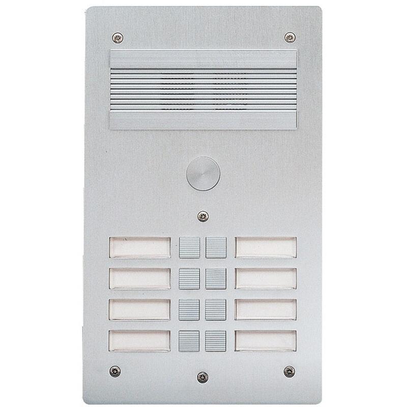 Platine de rue Série 300 audio façade Alu 4mm 8 appels