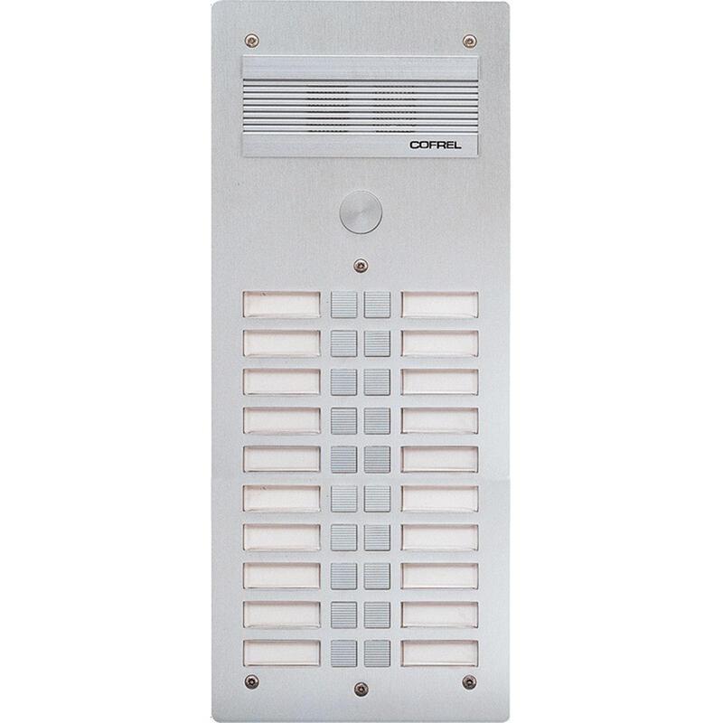 Platine de rue Série 300 audio façade Alu 4mm 20 appels