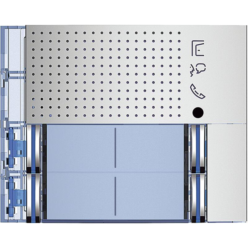 Façade Sfera New pour module électronique audio 4 appels sur 2 rangées Allmetal