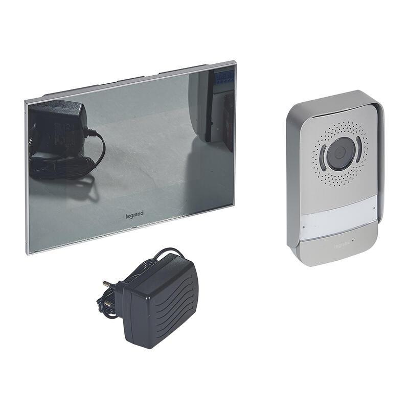 Kit portier visiophone avec interphone et écran miroir 7pouces