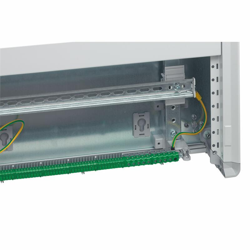Coffret distribution isolant XL³160 tout modulaire avec espace dédié pour kit de branchement - 3 rangées