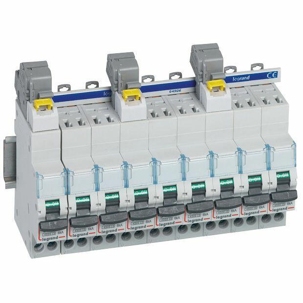 Borne de raccordement pour disjoncteur DX³ 3P+N à connexion automatique - section 6mm² à 25mm² - IP2X